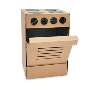 Pappdorf Cardboard Stove