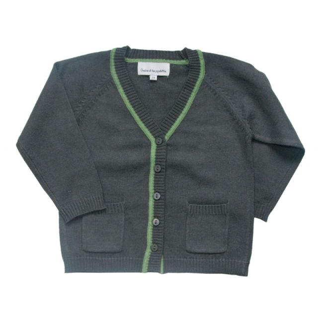 Gray boys cardigan cotton summer sale