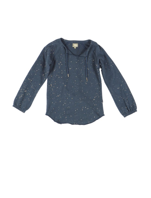 SPOTTY organic girls shirt in dark blue