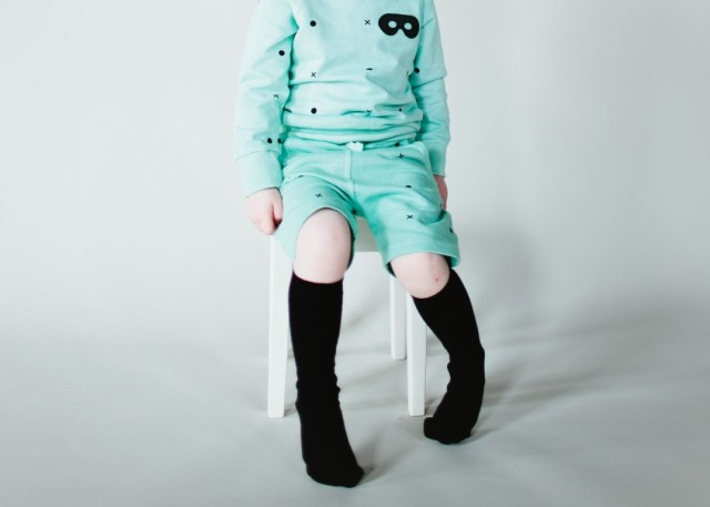 Jumper & Shorts Mint Dots & Crosses (Medium)