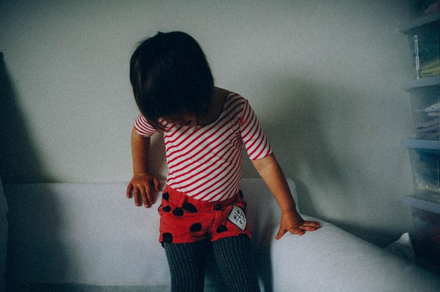 Popupshop maillot gym piece and Bobo Choses dotted shorts